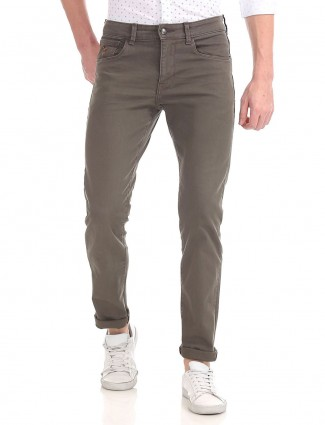 U S Polo solid grey colored jeans