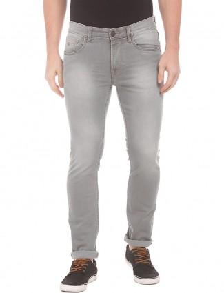 U S Polo solid grey denim jeans