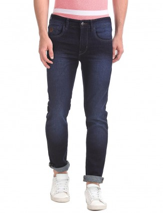 U S Polo solid navy hue jeans