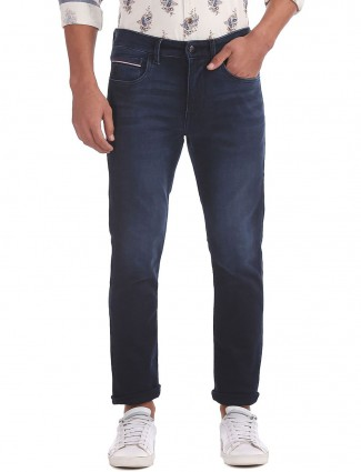 U S Polo solid navy hued jeans