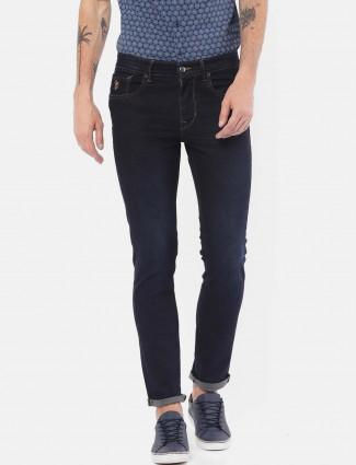 U S Polo solid navy nerrow pattern jeans