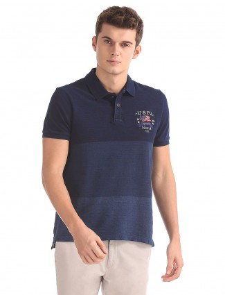 U S Polo solid navy t-shirt