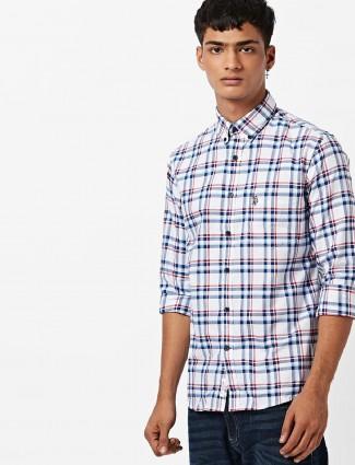 U S Polo white color checks shirt