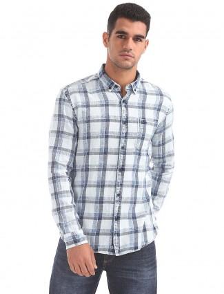 U S Polo white cotton shirt