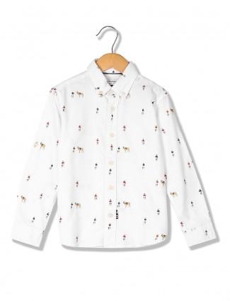 U S Polo white hue cotton shirt