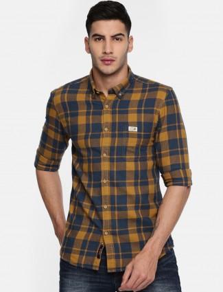 U S Polo yellow and navy shirt