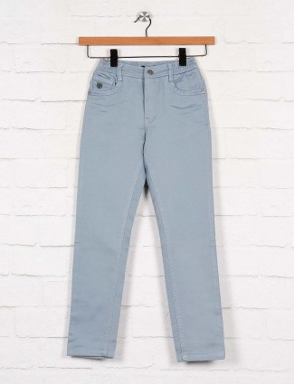 U-tex solid blue color cotton fabric trouser