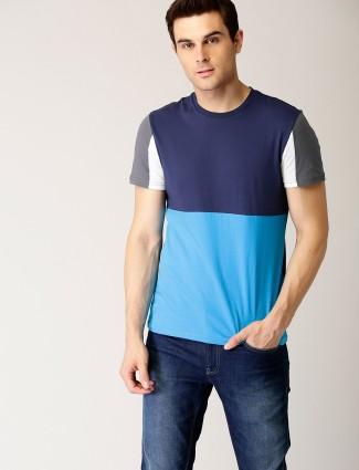 UCB aqua and navy cotton t-shirt