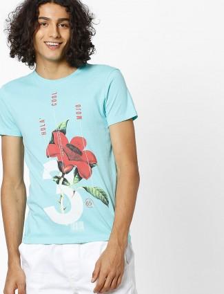 UCB aqua color t-shirt