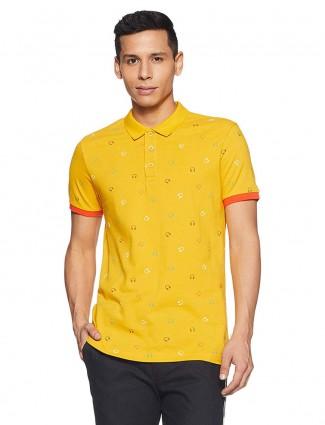 UCB bright yellow printed t-shirt