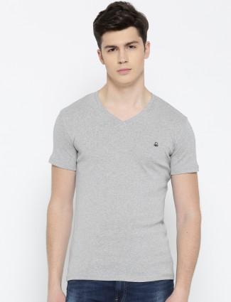 UCB Grey color cotton t-shirt