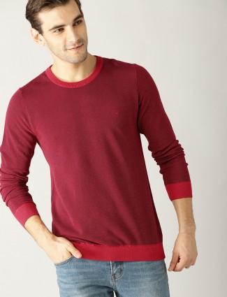 UCB maroon solid t-shirt