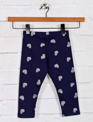 UCB presents navy printed cotton leggings