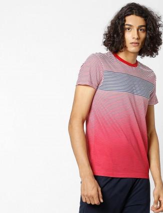 UCB red hue stripe t-shirt