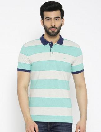 UCB White color  stripe pattern cotton shirt