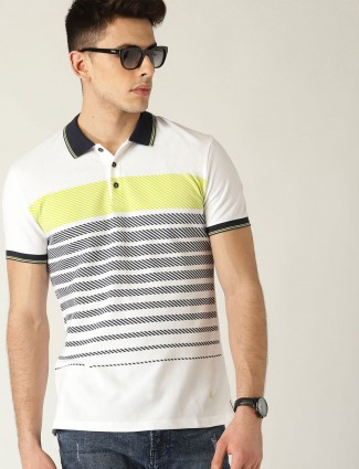 UCB white striped cotton t-shirt