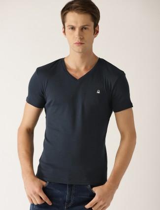 United Colors of Benetton navy plain t-shirt