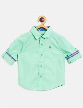 United Colors of Benetton pista green shirt