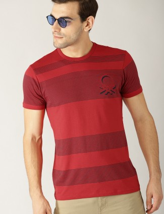 United Colors of Benetton red stripe t-shirt