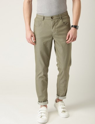 United Colors of Benetton solid olive trouser