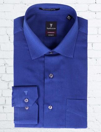 Van Heusen blue simple shirt