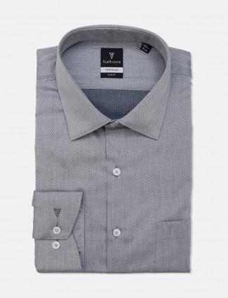 Van Heusen grey zitter slim fit shirt