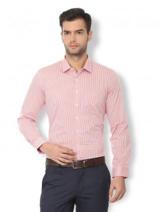 Van Heusen pink cotton fabric shirt