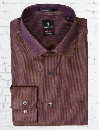 Van Heusen purple cotton shirt for partywear