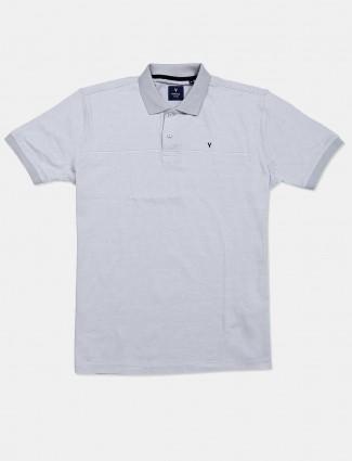 Van heusen solid light grey polo t-shirt