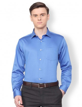 Van Heusen solid royal blue color shirt