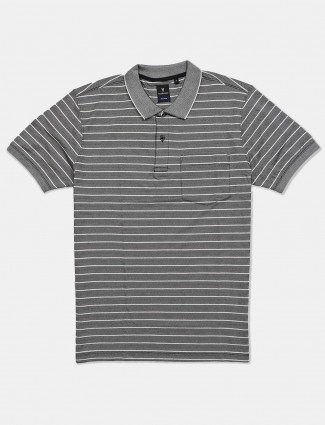 Van Heusen stripe grey casual t-shirt