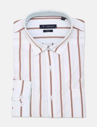 Van Heusen white stripe slim fit shirt