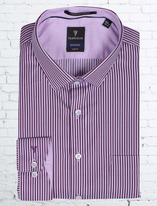 Ven Heusen pink stripe pattern formal shirt