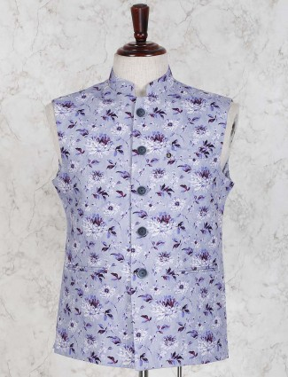 Violet color terry rayon fabric waistcoat