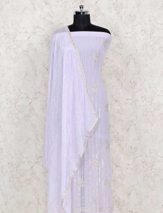 Violet colored dress material in cotton fabric