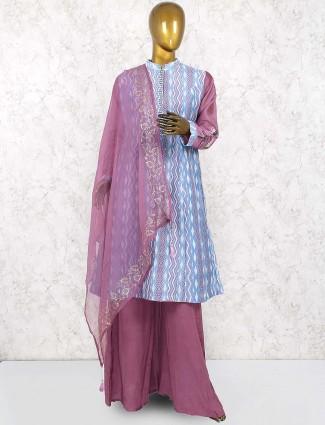 Violet hue pretty palazzo suit