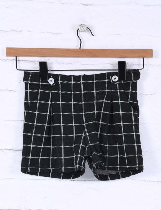 Vitamins black color cotton checks casual jeans