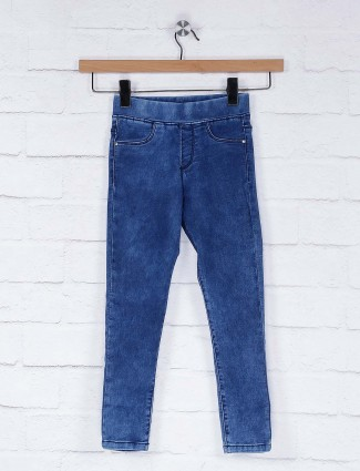 Vitamins blue hue casual wear denim jeggings