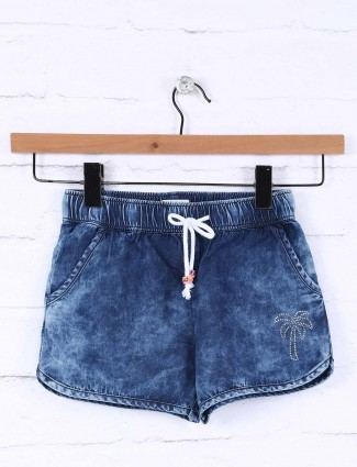 Vitamins denim blue casual shorts for little girl