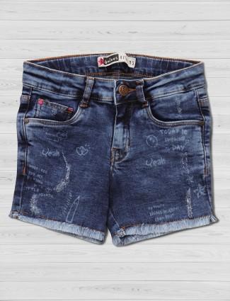 Vitamins denim dark blue shorts