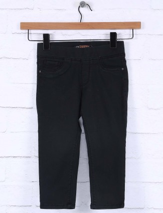 Vitamins Grey black color cotton jeggings for casual wear