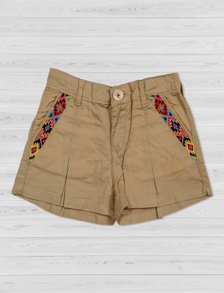 Vitamins khaki shorts