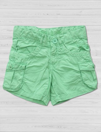 Vitamins light green cotton shorts