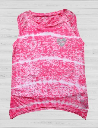 Vitamins magenta cotton top