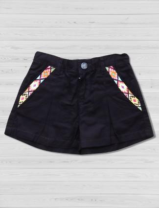 Vitamins navy colored shorts