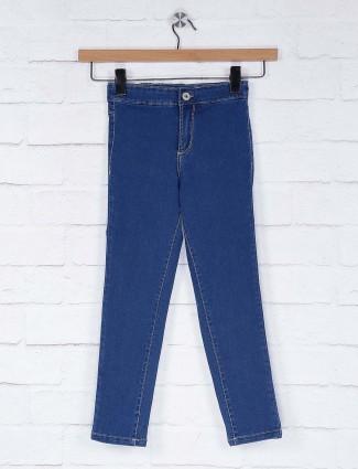 Vitamins solid blue denim casual jeans