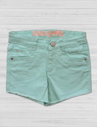 Vitamins solid sea green shorts