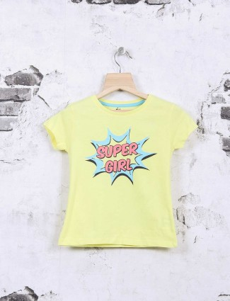Vitamins yellow cotton fabric top