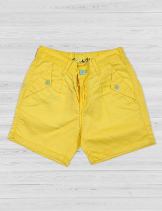 Vitamins yellow shorts