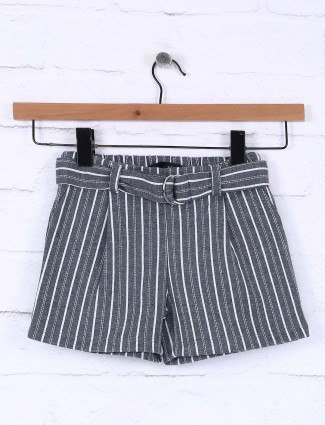 Vitamions grey cotton casual shorts